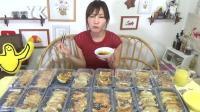 大胃王木下佑香: 品尝多种美味馅料的外卖煎饺