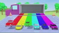 亮亮玩具汽车动画学习英语, 婴幼儿宝宝教育游戏视频1235
