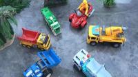 汽车工程车和直升飞机玩具试玩, 婴幼儿宝宝玩具游戏视频B806