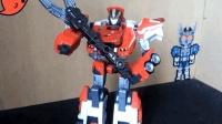 模玩分享多美卡超救援烈焰克星机器人模式(机动救急警察)-萝卜吐槽番外