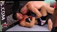 UFC: 李景亮生涯第二战, 与老外拼重拳血洒赛场!