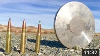 超厚钢板用武器测试威力最后拿出巴雷特能否击穿?