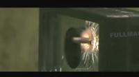 巴雷特VS加厚防弹玻璃威力测试狙击步枪那手枪是拿来搞笑的吗