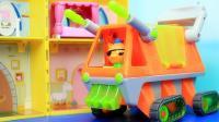 海底小纵队新玩具 呱唧猫驾驶海泥炮救援车