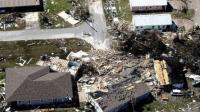 美国遇80年最强飓风 航拍灾后景象
