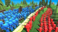 小飞象解说✘方块人战争模拟器 穿越回到公园5000年! 我也太强了!