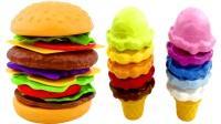 汉堡冰激凌甜筒叠叠乐 亲子益智早教玩具
