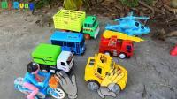 汽车挖掘机和飞机玩具试玩, 婴幼儿宝宝游戏玩具视频H482