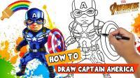 栩栩如生的美国队长素描画! 快来看天才画家怎么画出来的喔!