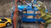 爆兽猎人变形奇趣蛋, 户外恐龙公交车玩具模型
