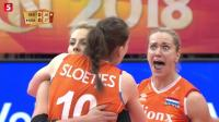 2018女排世锦赛集锦: 荷兰五局逆转美国 首次打进世锦赛四强