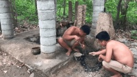 原始技术, 两兄弟用矿石炼出黄铜, 做出一把完美的铜斧
