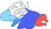 爱睡觉的Q版赛罗奥特曼儿童卡通简笔画
