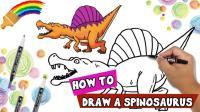 哇! 侏罗纪恐龙从画里走出来了 太神奇了! 快来看天才画家怎么画出来的喔!