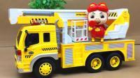 仿真惯性工程车 会讲故事的督工车 开拓者汽车玩具