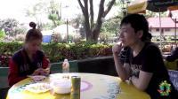 贼尴尬! 中国小哥在老挝街头, 搭讪老挝妹子, 感觉空气凝固了