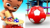 可爱宝宝快乐玩具足球运动快乐玩耍儿童英语少儿英语abc