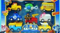变形警车珀利模型车大集合罗伊与海利玩具