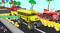 改装吉普车给校车救护车染色 家中的美国学校