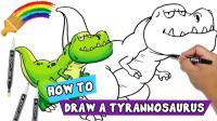 彩虹画堂 哇! 侏罗纪恐龙从画里走出来了! 太神奇了! 快来看天才画家怎么画出来的喔