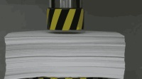 100吨的液压机VS1000张纸, 过程还挺精彩, 只是结果反转的有点快啊