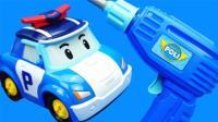 变形警车珀利维修工具箱玩具变形机器人