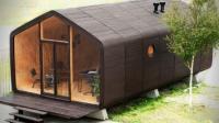瓦楞纸造别墅, 还能自产电力, 靠胶水黏能用100年!