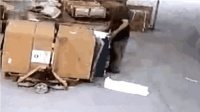 快递员暴力卸货画面被曝光 万元货物被摔坏最多只赔八百