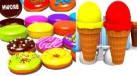 少儿英语儿童英语合集学英语更方便儿童玩具美味食物冰淇淋甜甜圈