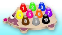 数字积木玩具拼装小刺猬玩具