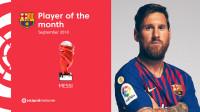 梅西当选西甲9月最佳 贡献3球4助攻多项数据领跑联赛