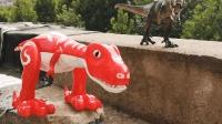 户外恐龙, 帮帮龙出动, PK超级飞侠直升飞机玩具