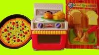 趣味食玩:儿童手工DIY,一起制作美味的面包与披萨、蛋糕!