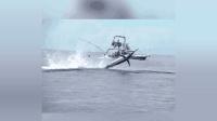 震撼! 百磅旗鱼强势出水, 除了尖叫还能怎样?