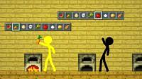 我的世界MC动画: 火柴人厨艺大赛, 绿色火柴人比赛时睡大觉