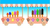 儿童玩具冰淇淋玩具车做游戏购买数字冰淇淋儿童英语少儿英语