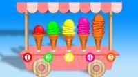 冰淇淋车带来美味冰淇淋玩具