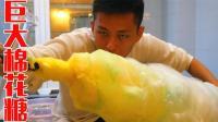 挑战做世界上最大的棉花糖! 整个脸塞入棉花糖的感觉真好!