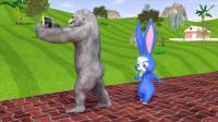 趣味益智动画片 喜欢自拍的大猩猩