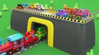 亮亮玩具汽车和火车动画学习英语, 婴幼儿宝宝教育游戏视频1268