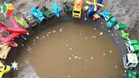 汽车挖掘机和飞机玩具试玩, 婴幼儿宝宝玩具游戏视频A882