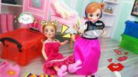 安琪和小凯丽偷用芭比化妆品 穿姐姐裙子高跟鞋 被发现了这下惨了