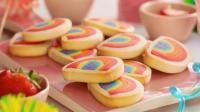 人人羡慕的彩虹饼干, 一分钟就学会, 最后吃那一口馋疯了!