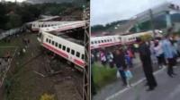 台湾一火车脱轨侧翻 已致17人遇难118伤