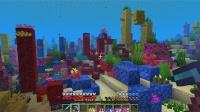 五彩缤纷的海底珊瑚礁!!!我的世界1.13极限生存EP68