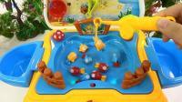 亮亮玩具好玩的钓鱼和奇趣蛋玩具试玩, 婴幼儿宝宝教育游戏视频
