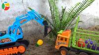 汽车挖掘机和超级飞侠玩具试玩, 婴幼儿宝宝玩具游戏视频F116