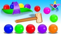跟着小彩球玩具学色彩