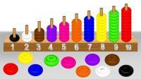 彩色算珠叠叠乐认识数字