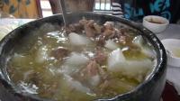 在西藏吃的牦牛肉, 380元一大锅, 够四个人吃的了